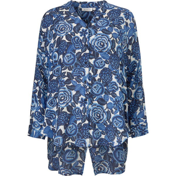 IDA BLOUSE, GREEK BLUE, hi-res