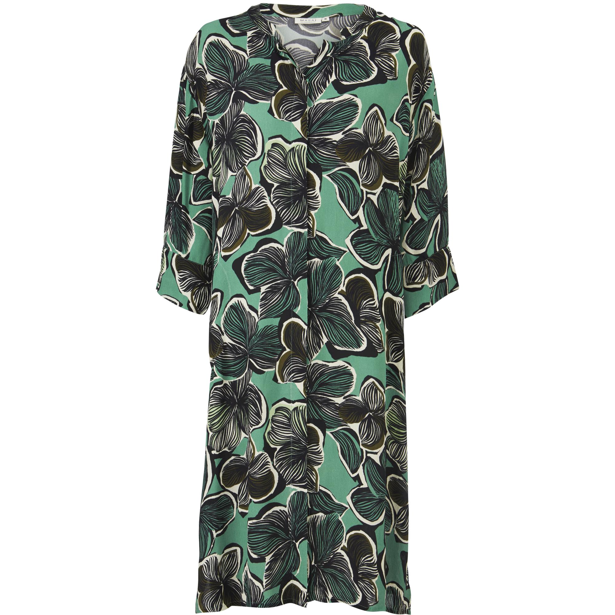 NIMES SHIRT DRESS, Bottle Green, hi-res