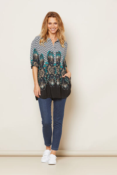 INESSA BLOUSE, ORION ORG, hi-res