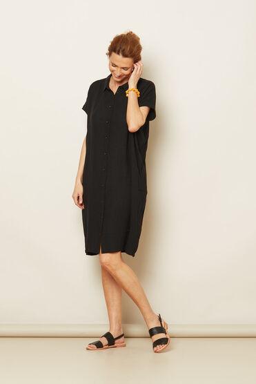 NELLA DRESS, Black, hi-res