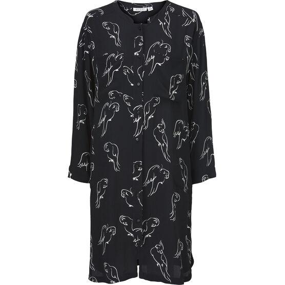 NAELLE DRESS, Black, hi-res