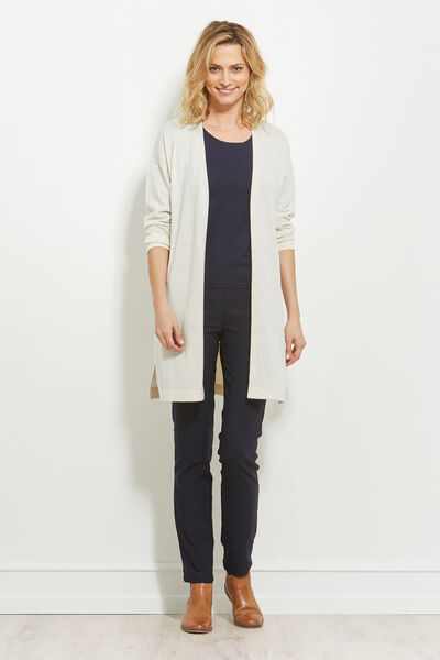 LEONA CARDIGAN, CREAM, hi-res
