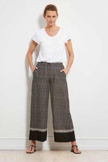PERINUS TROUSERS, BLACK ORG, hi-res