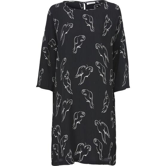 NITASSA DRESS, Black, hi-res
