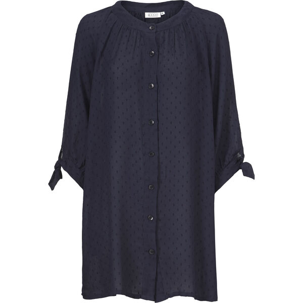 IMEKE BLOUSE, NAVY, hi-res