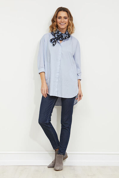IDRILL BLOUSE, SKY, hi-res