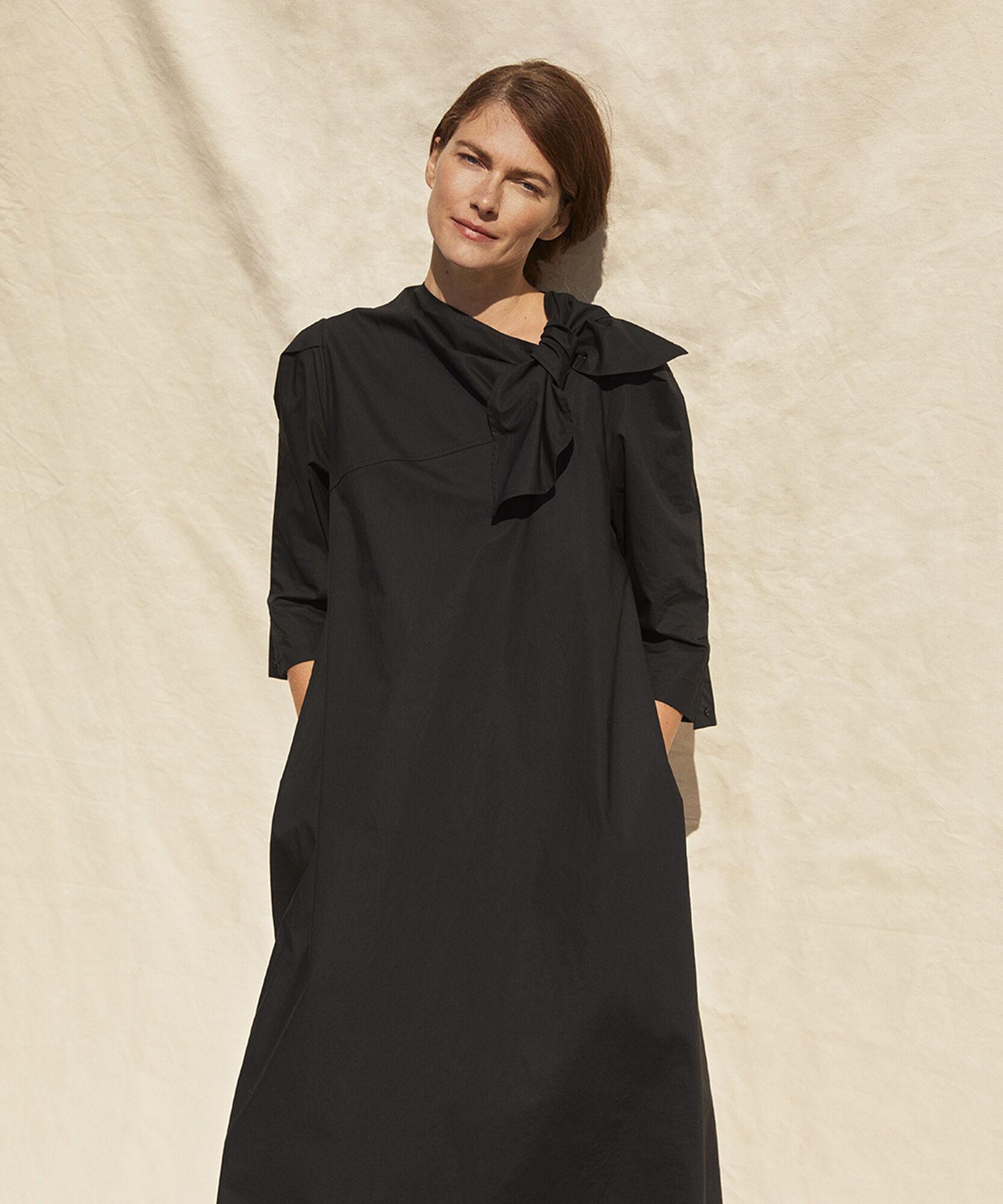 NILAN DRESS, Black, hi-res