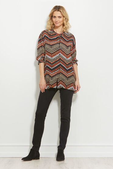 ITSI BLOUSE, FLAME, hi-res