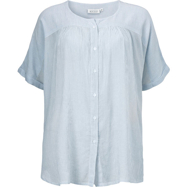 ILEEN BLOUSE, BLUE PEARL, hi-res