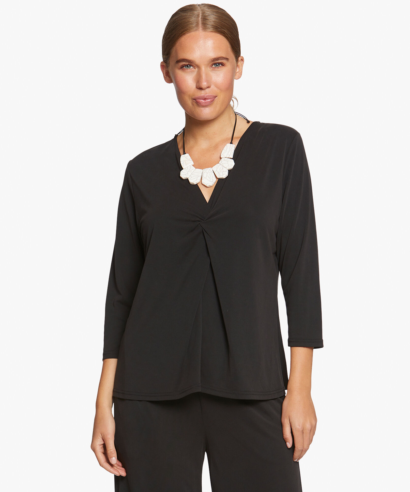 BABUSKA TOP, Black, hi-res