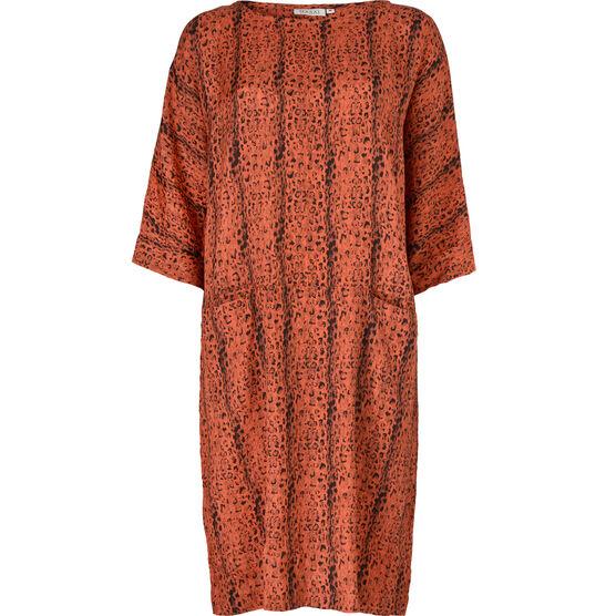 NILIMA DRESS, FLAME ORG, hi-res