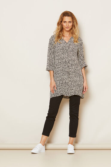 GUNVOR TUNIC, BLACK, hi-res