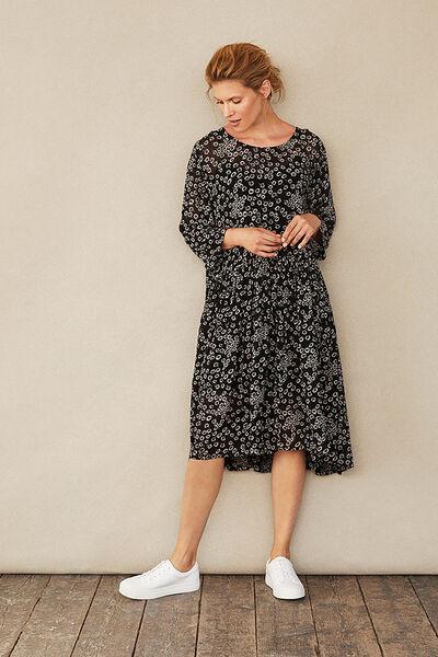 NANCY DRESS, Black, hi-res