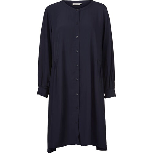 NELLY SHIRT DRESS, NAVY, hi-res