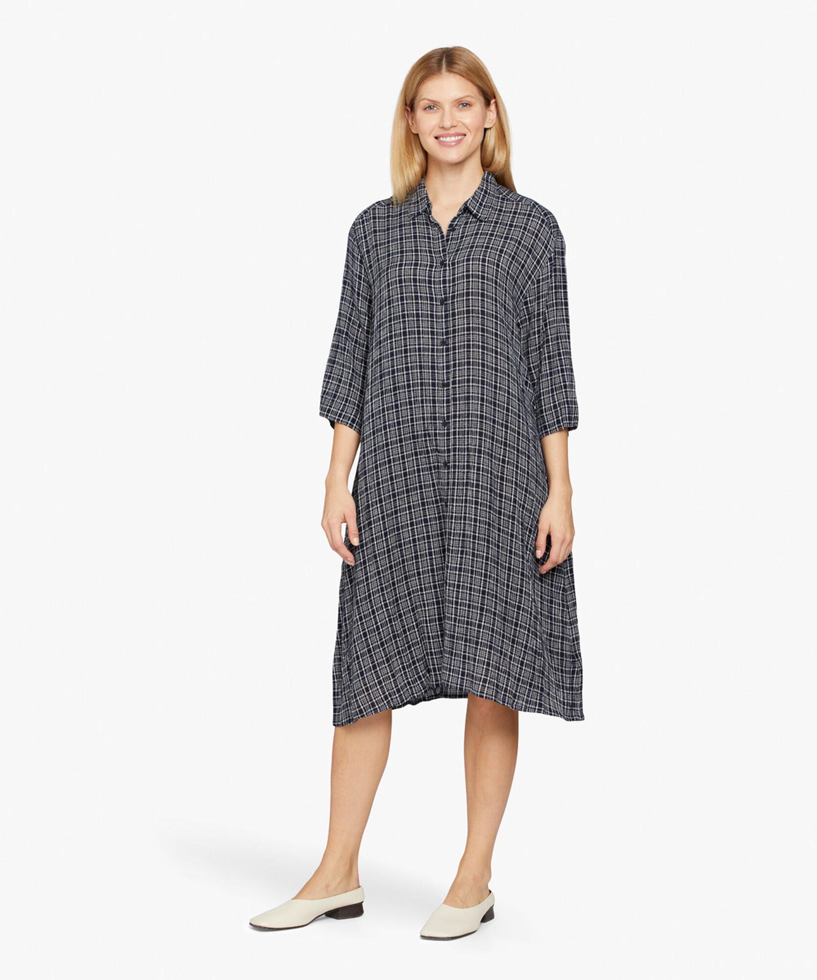 NANCYL SHIRT DRESS, Navy, hi-res