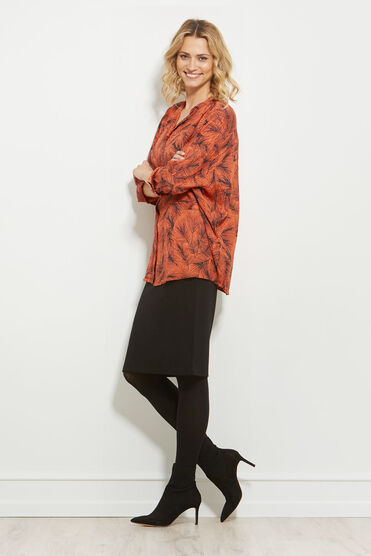 IRMA BLOUSE, FLAME, hi-res