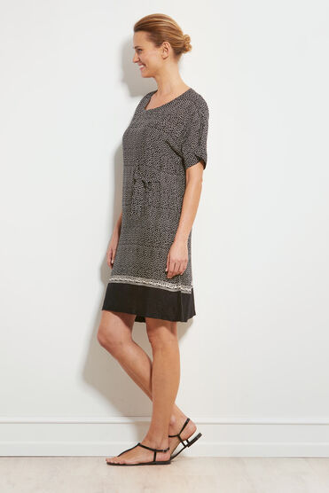 NATA DRESS, BLACK, hi-res