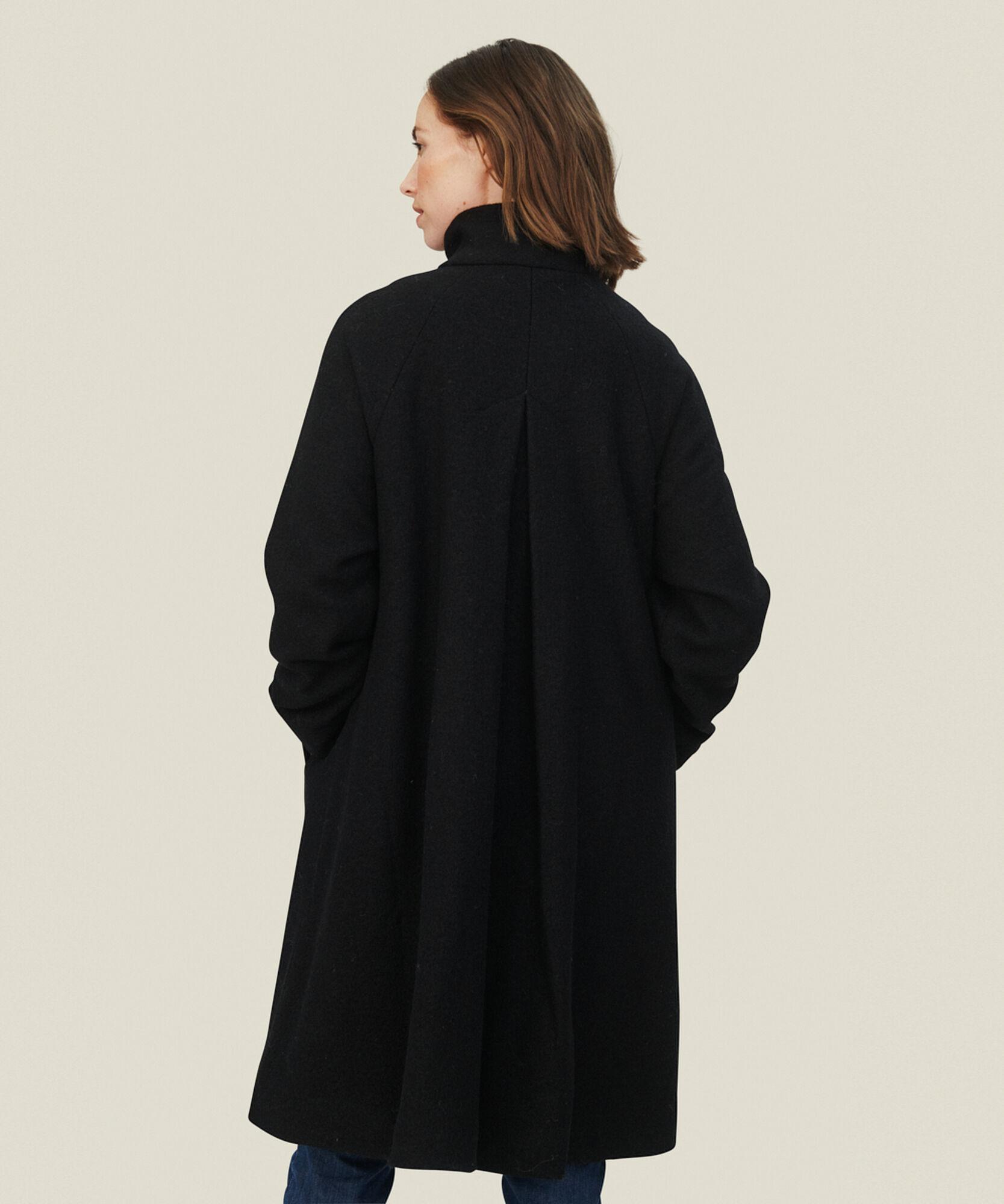 TESSA WOOL COAT, Black, hi-res
