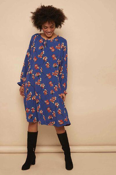 NOGA DRESS, ROY BLU ORG, hi-res