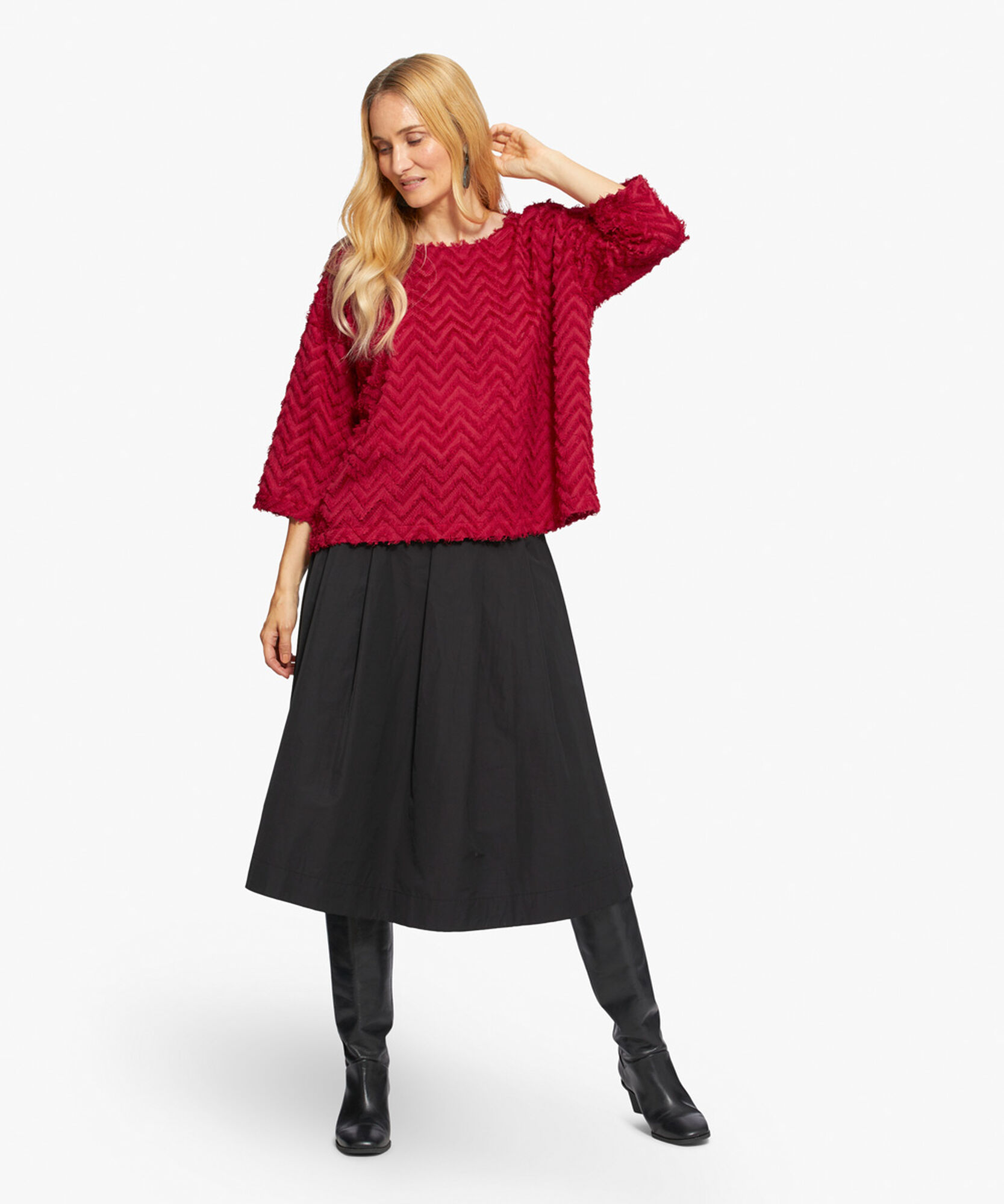 SALLINE SKIRT, Black, hi-res