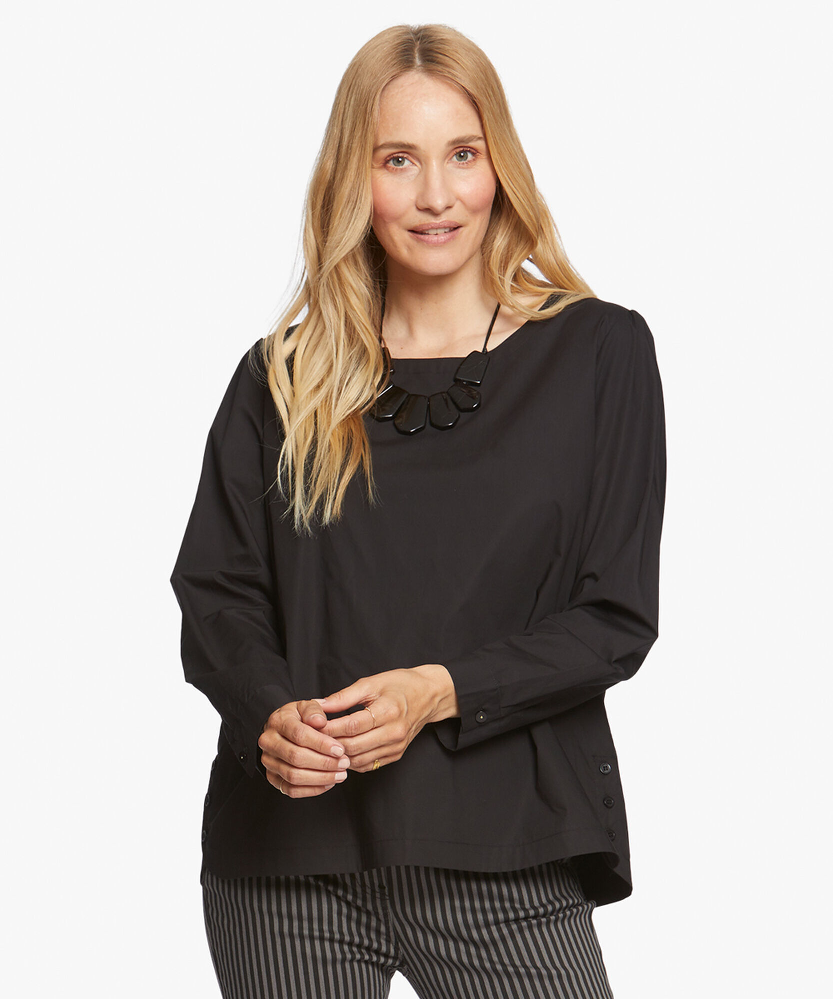 BEBBE TOP, Black, hi-res