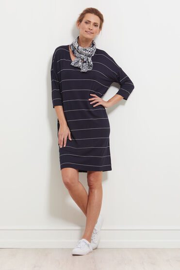 NEBINE DRESS, NAVY, hi-res