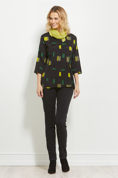 IRATA BLOUSE, LIME, hi-res