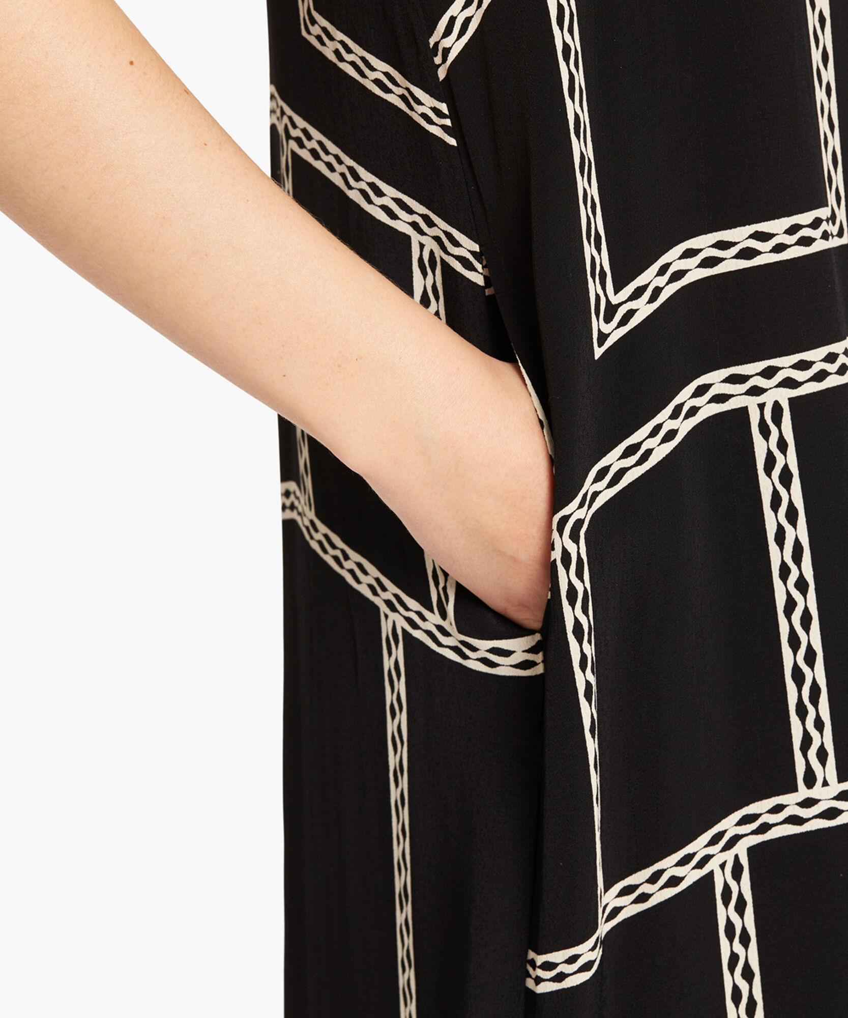 ODETTO DRESS, Black, hi-res