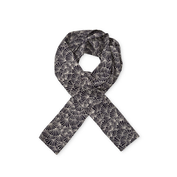 ALONG SCARF, NAVY ORG, hi-res