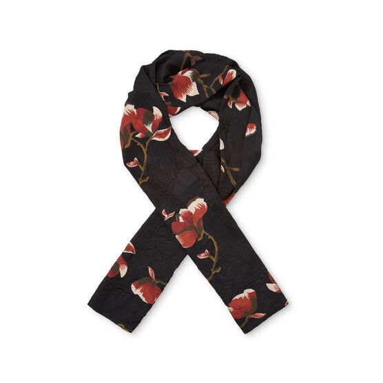 ALONG SCARF, RED OCH ORG, hi-res
