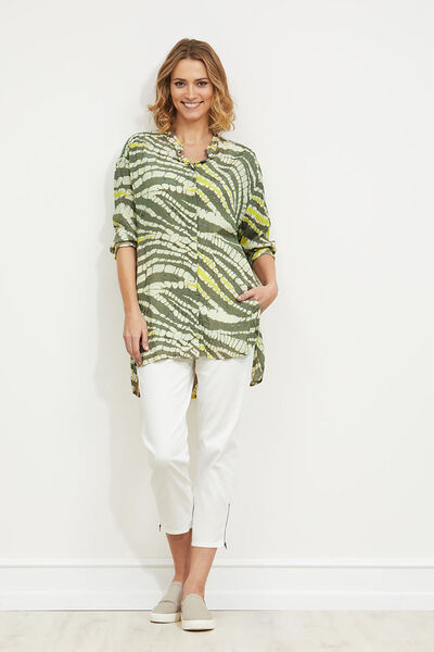 Idrill blouse, MOSS, hi-res