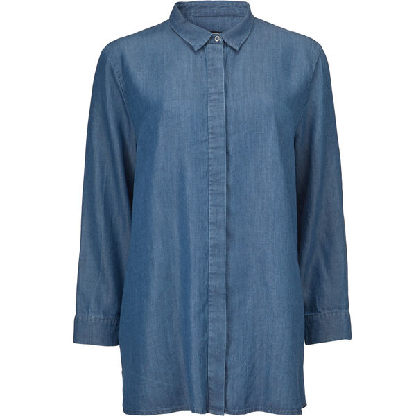 INDISSA SHIRT, BLUE DENIM, hi-res