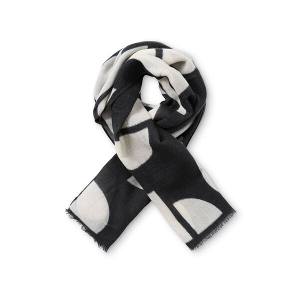 AELIANA SCARF, BLACK ORG, hi-res